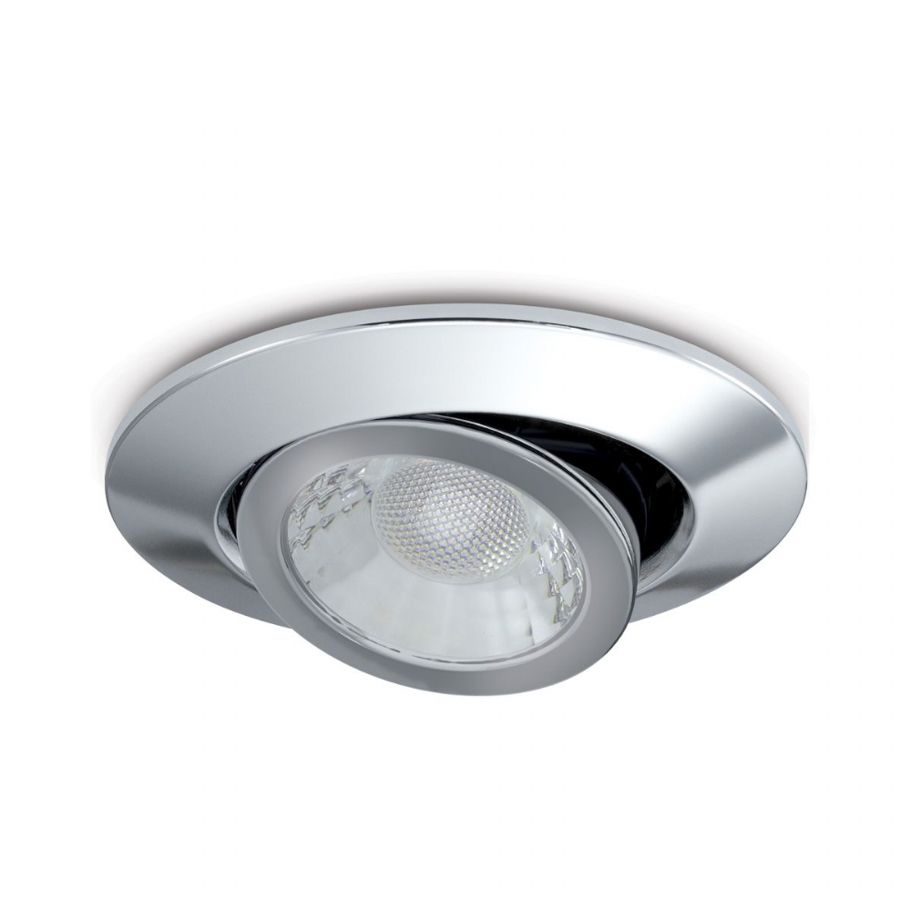 JCC Lighting JC1002/CH Adjustable Fire-Rated Downlight 7.5W Dimmable 3000/4000K